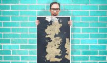 Game of Thrones Map Art - Wall Art Print Poster Any Size - Map Art Geekery